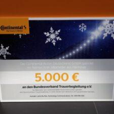 Continental-Mitarbeiter spenden 15.000 Euro für karitative Verbände